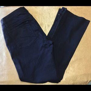 LRL Lauren Jeans Co Black Jeans Buttons @ Ankles